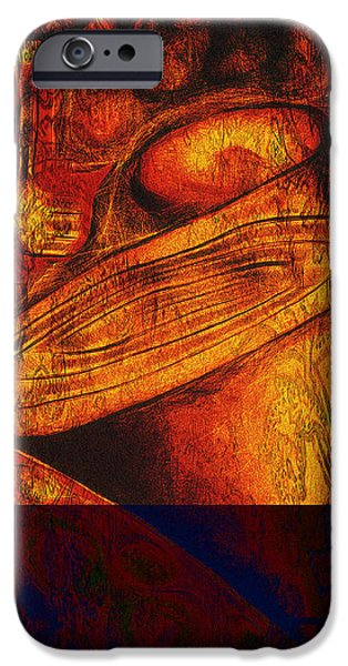 Abstract Digital Mixed Media iPhone Cases - This Mortal Coil iPhone Case by Aurora Art