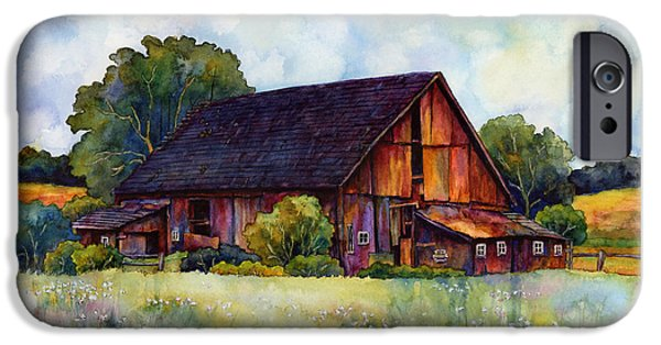 Old Barns iPhone Cases - This Old Barn iPhone Case by Hailey E Herrera