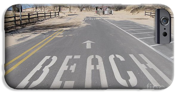 Recently Sold -  - White House iPhone Cases - All Roads Lead to Pentwater Beach iPhone Case by Jane Greiner