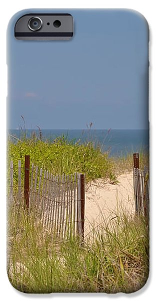 This Way to the Beach iPhone Case by Bill Cannon