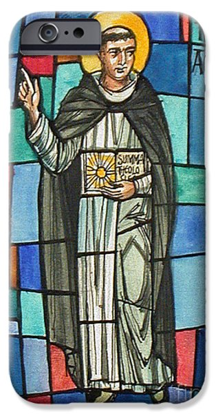 Thomas Aquinas Italian Philosopher iPhone Case by Photo Researchers