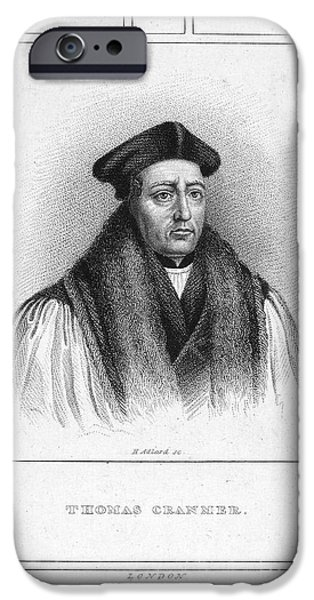 Reformer iPhone Cases - Thomas Cranmer (1489-1556) iPhone Case by Granger