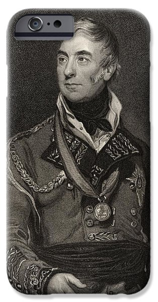 Aristocrat iPhone Cases - Thomas Graham 1st Baron Lynedoch 1748 iPhone Case by Ken Welsh