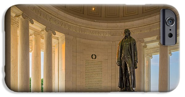 National Mall iPhone Cases - Thomas Jefferson iPhone Case by Inge Johnsson