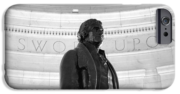 Constitution iPhone Cases - Thomas Jefferson Statue iPhone Case by Valentino Visentini