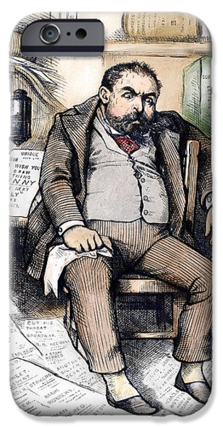 Cartoonist iPhone Cases - Thomas Nast (1840-1902) iPhone Case by Granger
