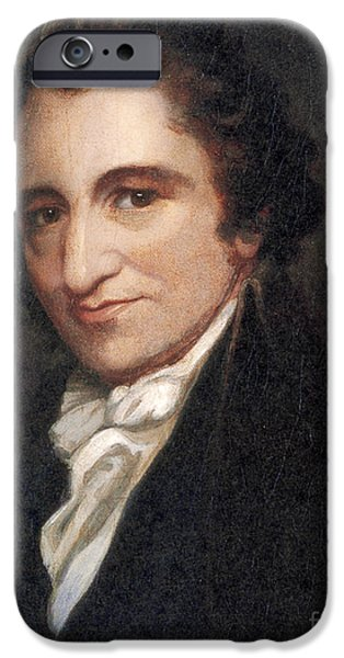 Rights Of Man iPhone Cases - Thomas Paine, American Founding Father iPhone Case by Photo Researchers
