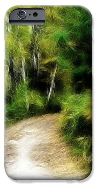 THOREAU WOODS iPhone Case by LAWRENCE CHRISTOPHER