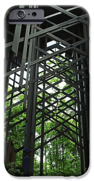 Arkansas iPhone Cases - Thorncrown Chapel Sanctuary in the Ozark Mountains iPhone Case by Lizi Beard-Ward