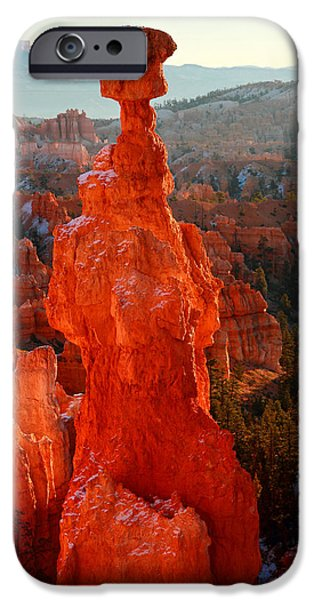 Thor's Hammer at sunrise iPhone Case by Pierre Leclerc Photography