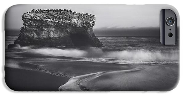 Monotone Photographs iPhone Cases - Though the Tides May Turn iPhone Case by Laurie Search