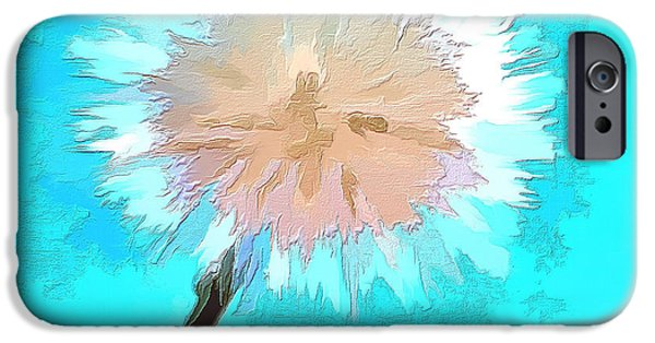 Abstract Digital Photographs iPhone Cases - Thoughtful Wish iPhone Case by Krissy Katsimbras