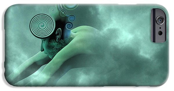 Ghost Story iPhone Cases - Thoughts are Born iPhone Case by Betsy C  Knapp