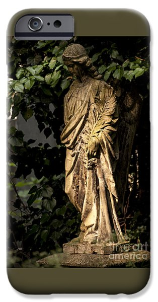 Cemetary iPhone Cases - Thoughts iPhone Case by Bridget Jones