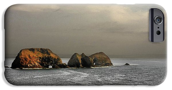 Coast Highway One iPhone Cases - Three Arch Rocks - Oceanside near Cape Meares - Oregon iPhone Case by Christine Till