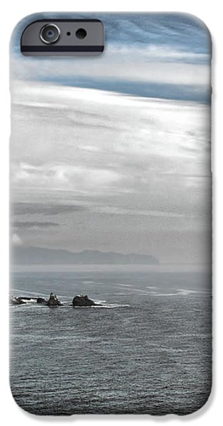 Three Arch Rocks National Wildlife Refuge near Cape Meares Oregon iPhone Case by Christine Till