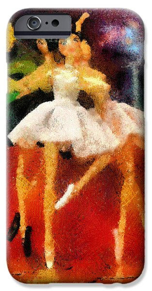 Ballet Dancers iPhone Cases - Three Ballet Dancers iPhone Case by Alan Armstrong