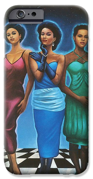 Spiritual Pastels iPhone Cases - Three Graces  iPhone Case by  Albert Fennell