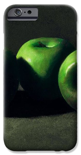 Three Green Apples iPhone Case by Frank Wilson