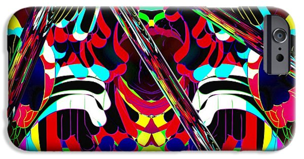 Abstract Digital Art iPhone Cases - Three Lines iPhone Case by Gayle Price Thomas