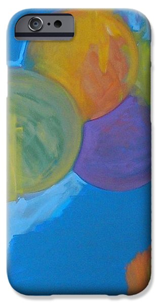 Abstractions iPhone Cases - Three Spheres iPhone Case by Philip Rader
