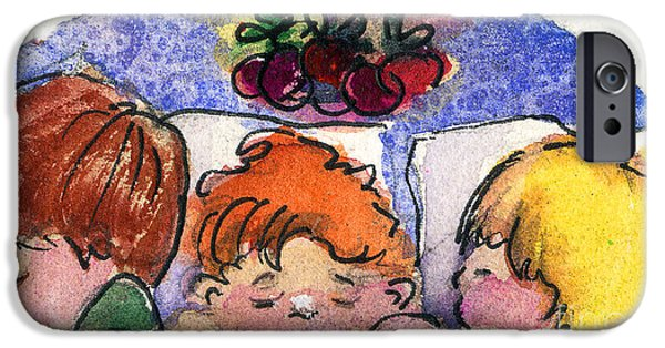 The Church Mixed Media iPhone Cases - Three Sugar Plum Dreamers iPhone Case by Mindy Newman