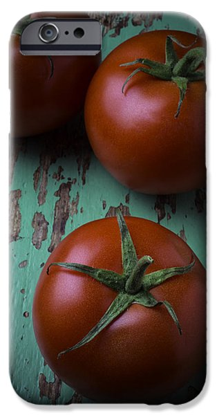 Chip iPhone Cases - Three Tomatoes iPhone Case by Garry Gay