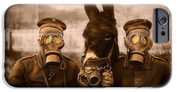 Weapon iPhone Cases - Three Wearing Masks iPhone Case by David Bell