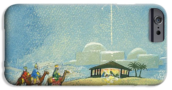 Manger iPhone Cases - Three Wise Men iPhone Case by David Cooke