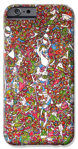 Chicago Paintings iPhone Cases - Three Women from Velingera iPhone Case by Dianke Daffe-Rachow