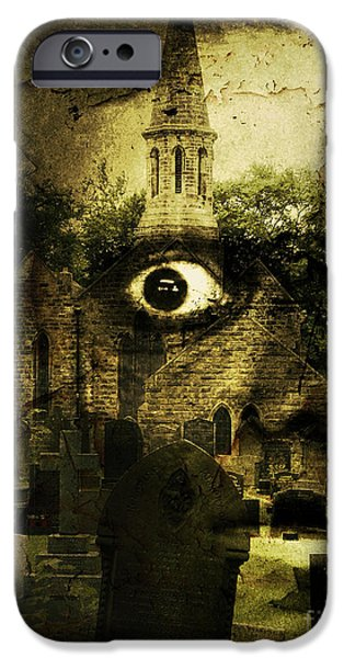 Eerie iPhone Cases - Thriller iPhone Case by Gillian Singleton