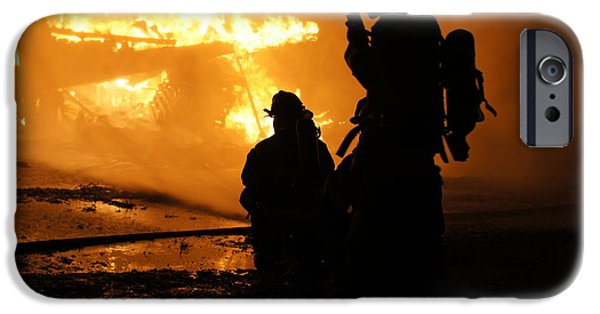 Flaming iPhone Cases - Through the Flames iPhone Case by Benanne Stiens