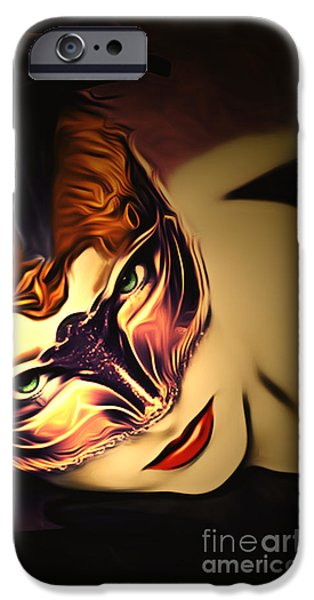 Alice In Wonderland iPhone Cases - Through the Looking Glass iPhone Case by Larry Espinoza