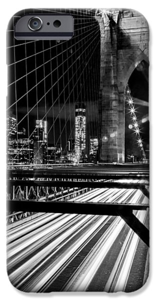 Financial District iPhone Cases - Through The Manhattan Archways iPhone Case by Az Jackson
