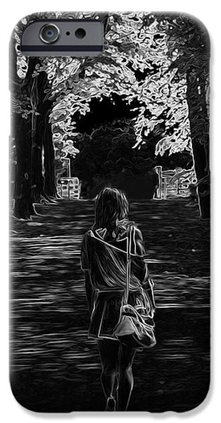 Creepy iPhone Cases - Through The Shadows iPhone Case by N Lxxii