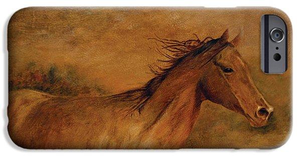 Horse iPhone Cases - Thunder iPhone Case by Vali Irina Ciobanu