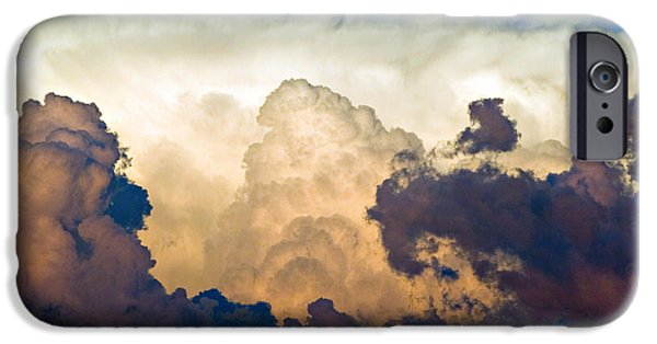 Thunderhead iPhone Cases - Thunderhead Cloud Color Poster Print iPhone Case by James BO  Insogna