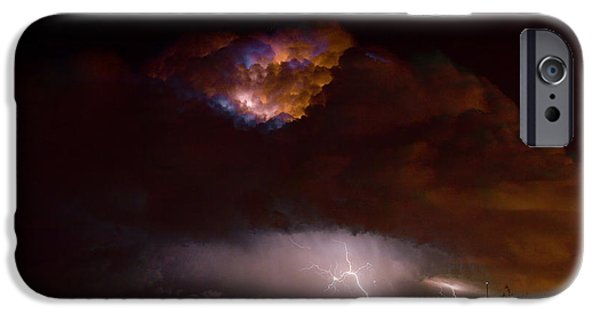 Stock Images iPhone Cases - Thunderstorm Boulder County 08-15-10 iPhone Case by James BO  Insogna