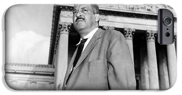 D.c. iPhone Cases - Thurgood Marshall iPhone Case by Granger