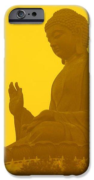 Freedmen iPhone Cases - Tian Tan Buddha iPhone Case by Jason Freedman