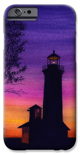 Lighthouse iPhone Cases - Tibbetts Point Lighthouse iPhone Case by Michael Vigliotti