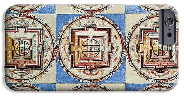 Tibetan Buddhism iPhone Cases - Tibet: Buddhist Mandalas iPhone Case by Granger