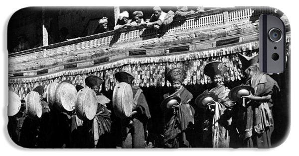 Tibetan Buddhism iPhone Cases - Tibet: Lamas iPhone Case by Granger