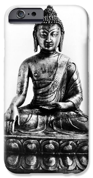 Tibetan Buddhism iPhone Cases - Tibetan Buddha iPhone Case by Granger
