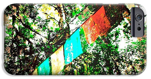 Colorful Abstract iPhone Cases - Tibetan Buddhist Prayer Flags iPhone Case by David Coleman