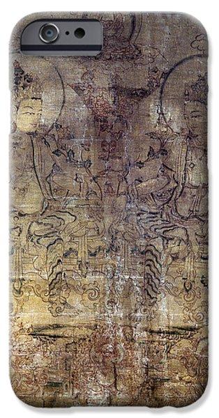 Tibetan Buddhism iPhone Cases - Tibetan Gouache Painting iPhone Case by Granger