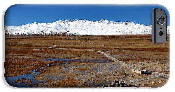 Mounds iPhone Cases - Tibetan Plateau iPhone Case by Natalia Smieszek-Suszyna