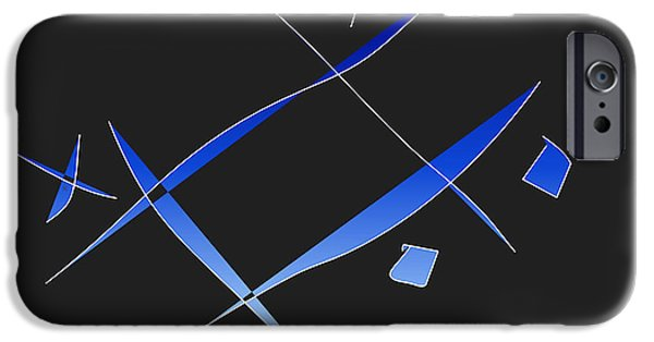 Abstract Expressionist iPhone Cases - Tic iPhone Case by John Krakora