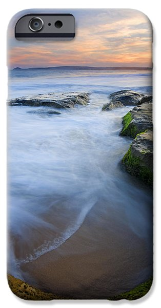 Knights Beach iPhone Cases - Tidal Bowl iPhone Case by Mike  Dawson