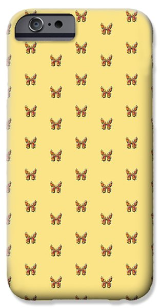 Insects Tapestries - Textiles iPhone Cases - Tiddlyflybananabutterfly iPhone Case by Deborah Runham